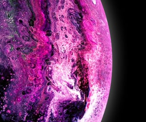 pink, planet, and purple image