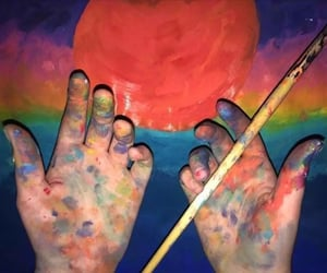 aesthetic, artist, and hand image