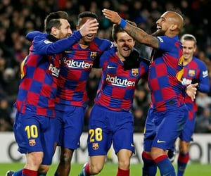 squad, fc barcelona, and messi image