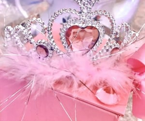 crown, nostalgia, and pink image
