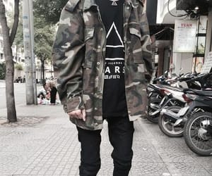 camo, fashion, and jacket image