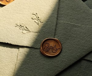 envelope, gold, and forest image
