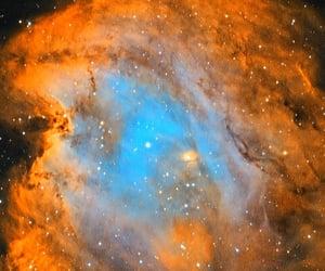hubble palette, ngc-2174, and monkeyhead nebula image