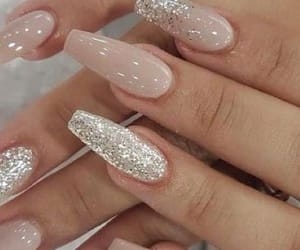 glitter, nails, and woman image