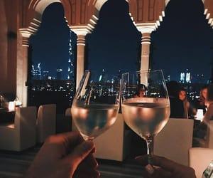 drink, night, and wine image