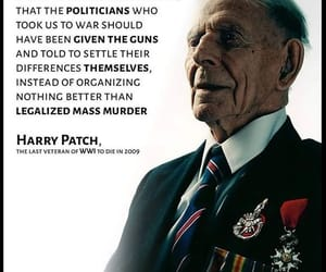 politicians, get up stand up, and harry patch image