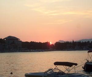 Croatia, sea, and sunset image