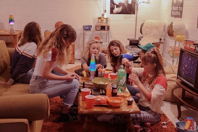 girls, party, and retro image