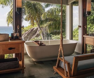 bathroom, home, and beach image