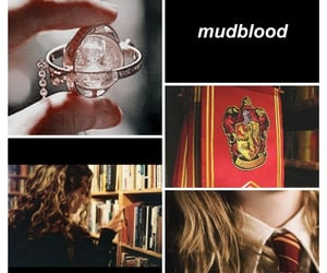 curly hair, harry potter, and mudblood image