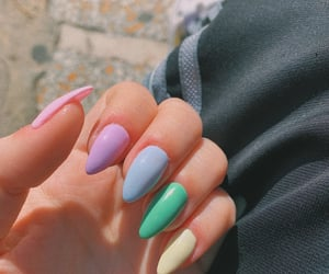 acrylic, color, and almondnails image