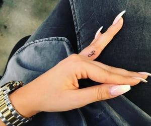 finger, ink, and tattoo image