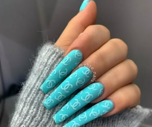 blue, chanel, and nails image