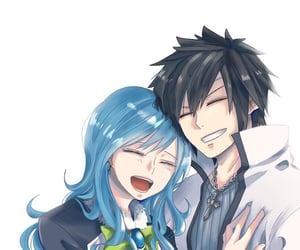 anime, fairy tail, and anime couple image