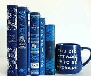 blue, books, and dickens image