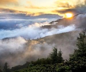 mountains, nature, and sunrise image