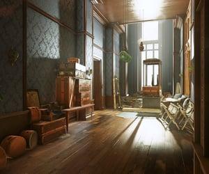 baroque, window, and hallway image