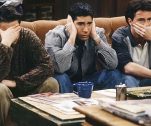 friends, ross, and chandler image
