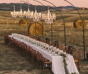 beautiful, rural, and wedding reception image