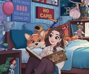 beautiful, cartoon, and girl image