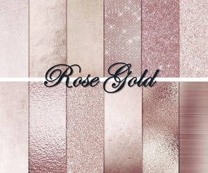 rose gold, rose gold makeup, and rose gold eyeshadow image