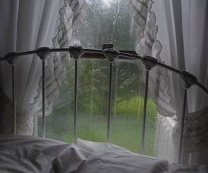rain, aesthetic, and bed image