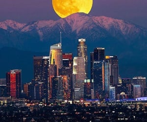full moon and los angeles image