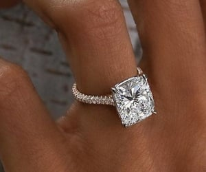 diamond, engagement, and wedding ring image