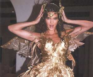 kendall jenner, gold, and model image