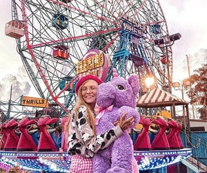 amusement park, girl, and pics image
