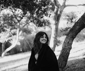 selena gomez, rare, and black and white image