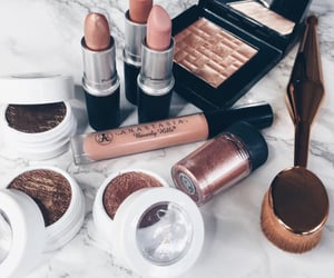beauty, Brushes, and eye makeup image