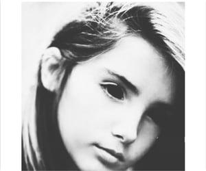 black eyes, girl, and gray image