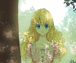 anime, blonde hair, and who made me a princess image