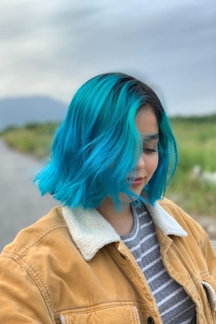 beauty, colorful, and girl image
