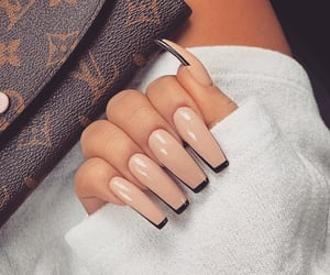 nails, girls, and style image