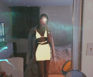 dress, outfit, and reflecting image