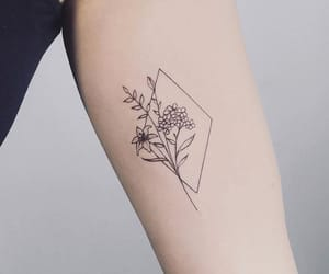 butterfly, flowers, and line art image