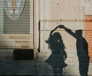 shadow, couple, and love image