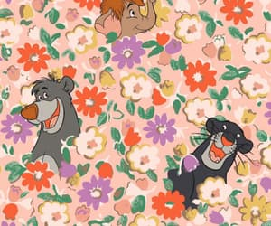 background, disney, and florals image