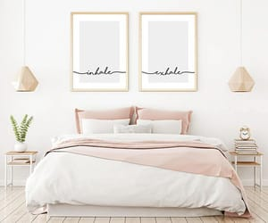 bed, design, and cozy image