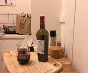 wine, kitchen, and cozy image