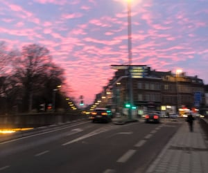 clouds, color, and pink image