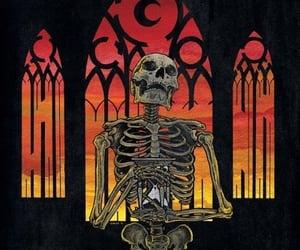 skeleton and dark image