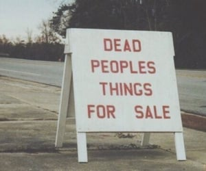 dead, text, and sale image