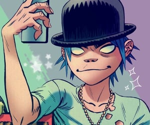 gorillaz, music, and 2-d image