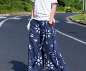 blue pants, etsy, and yoga pants image