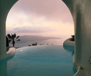 pool, travel, and Greece image