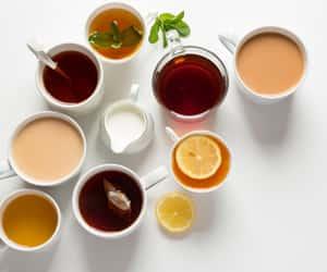 green tea, chamomile tea, and ginger tea image