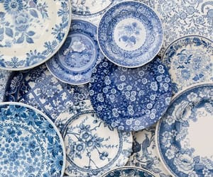 blue and dishes image